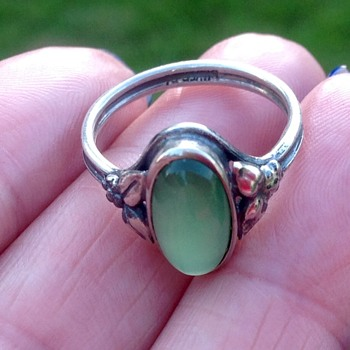 Bernard Instone? Silver Ring - Arts and Crafts
