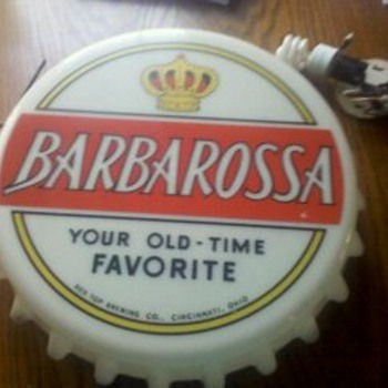 BarbaRossa Beer Sign - Breweriana