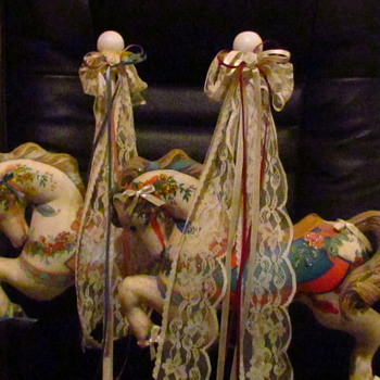 Fabric - Stuffed Carousel Horses - Animals