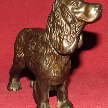 Vintage Spelter Cocker Spaniel Dog - Animals