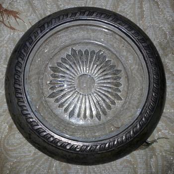 Sterling Silver Rimmed Trinket Dish - Silver