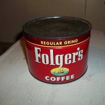 1952 FOLGERS COFFEE CAN
