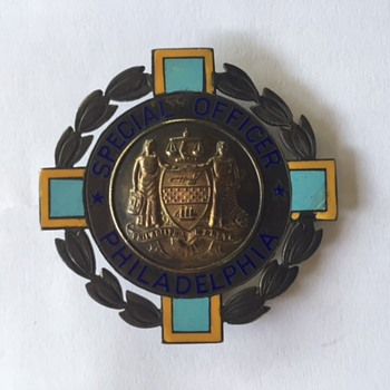 WW ll Special Officer Philadelphia badge - Medals Pins and Badges