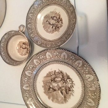 Vintage Brown Transfer Ware - China and Dinnerware