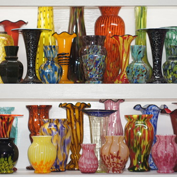 7 Shelves Of Welz Glass In My Collection - A Portion Of An Even More Extensive Collection Of Their Production - Art Glass