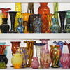 7 shelves of Welz glass in my collection - A portion of an even more extensive collection of their production
