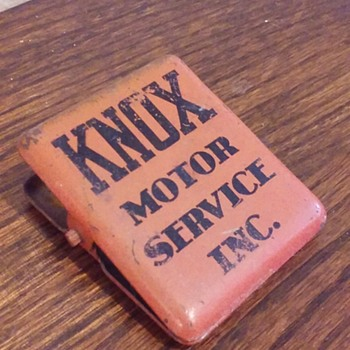 KNOX MOTOR SERVICE INC. metal advertising clip - Advertising