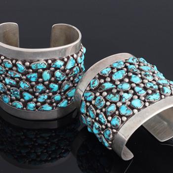 Frank Patania Sr. Burnham Nugget cuffs - Silver