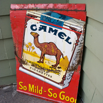 Smoking hot find! Original 1953 camel advertising sign. - Signs