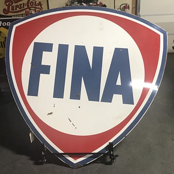 Fina 6ft gas and oil sign  - Petroliana