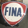 Fina 6ft gas and oil sign