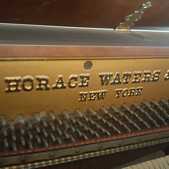 Vintage HORACE WATERS & CO PIANO NEW YORK  serial number 83899 - Musical Instruments