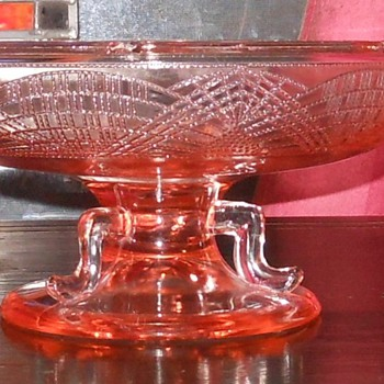 Pink Depression Glass Footed/Pedestal Bowl - Glassware