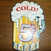 Cold Beer 5 Cents - Wooden Sign