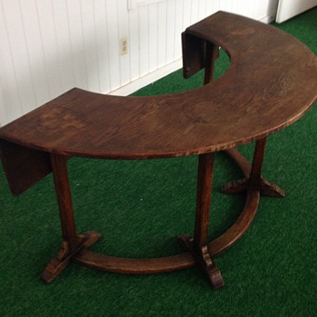 Antique Wine Tasting Table - Arts and Crafts