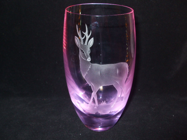Caithness Glass Neodymium Alexandrite Stag Vase Collectors Weekly