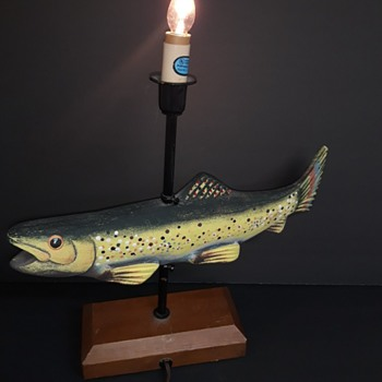 Vintage Palecek Swivel Lamp - Lamps