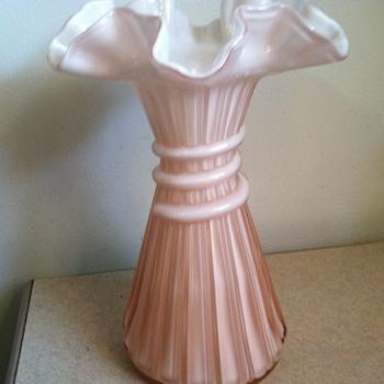 Fenton Wheat Vase - Art Glass