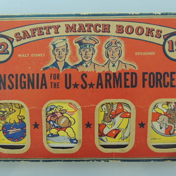 WW2  SAFTY MATCH BOOKS - Advertising
