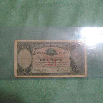 John Wayne Signed Australian dollar/Certified real
