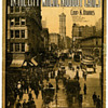 Sheet Music, IN THE CITY WHERE NOBODY CARES, (About Broadway) But Photo May be OMAHA, 1910