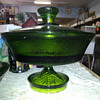 """Emerald Green """"Heavy"""" Footed/Pedestal Compote"""