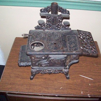 My antique Miniture Wood burning cook stove. - Advertising