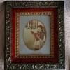 Vintage Red Velvet Gold Gilt Wooden Frame