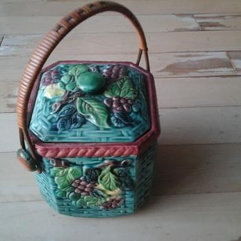 Vintage Biscuit Jar - Pottery