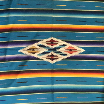 A real nice Saltillo Serape which arrived the other day. - Folk Art