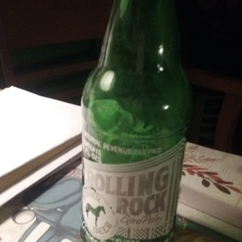 Early (1940) 7oz Rolling Rock bottle - Bottles