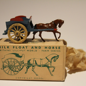 1950's Britains Milk Float & Horse - Toys
