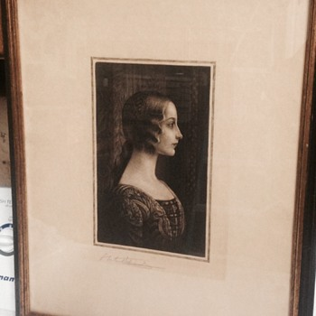 S Arlent Edwards 1905 engraving  - Fine Art