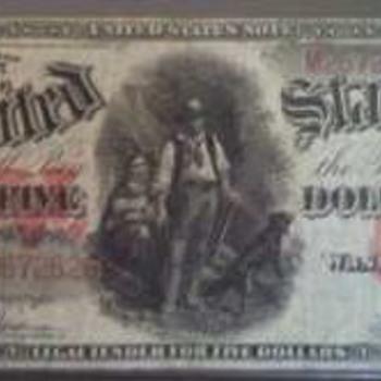 "1907 $5 ""Woodchopper"""