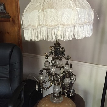Huge victorian table lamp - Lamps