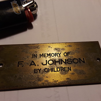 memorial plate - Tools and Hardware