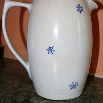 Snowflake pitcher - China and Dinnerware