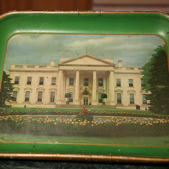 Metal Tray with the Old White House on it - Advertising
