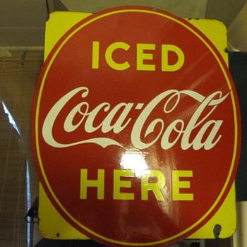 1952 Canadian Coca Cola Flange - Coca-Cola
