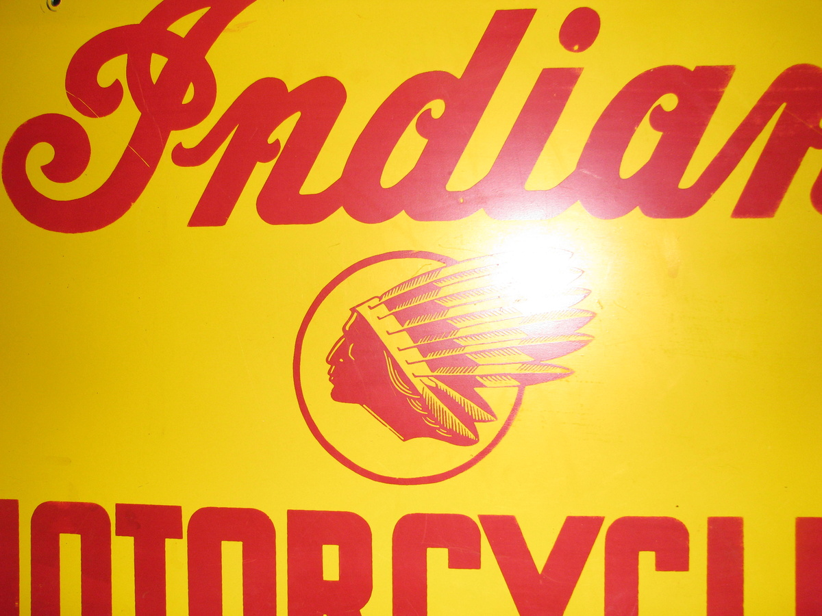 Vintage Indian Motorcycle Sign Collectors Weekly