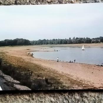 1976 UK drought crisis. Edgbaston reservoir.  - Photographs