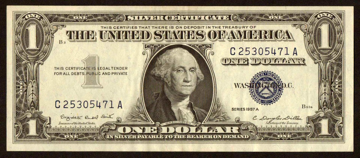1957 A Us 1 Silver Certificate Collectors Weekly