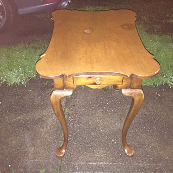 Antique side table with drawer - Furniture
