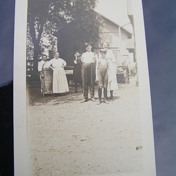 Old photograph of a farm family - Photographs