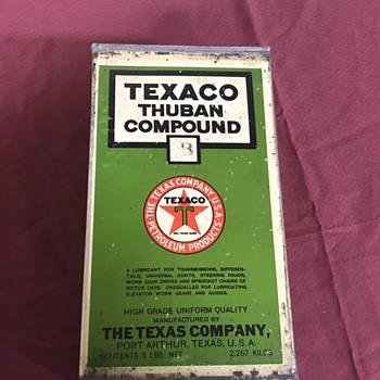 Early 1920's Texaco oil can  - Petroliana