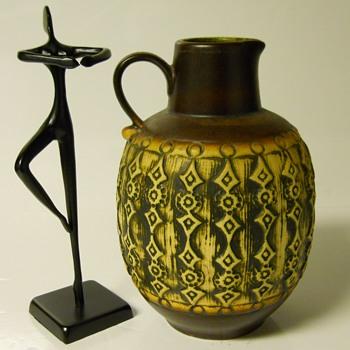 "Jaspa Art Pottery Vase""Cilli Wörsdörfer"" Circa 1950s - Pottery"