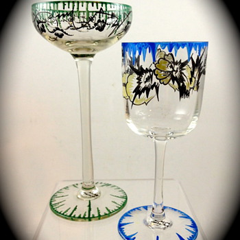 Emmy Seyfried, Munich drinking glasses, ca. 1920s - Art Glass