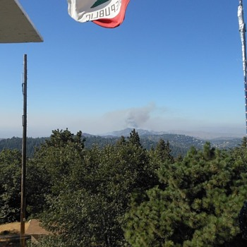 Photos of a Fire From The Historic Twin Peaks Fire Lookout - Photographs