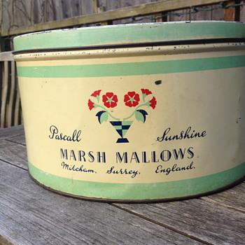 Pascall Sunshine Marsh Mallow Tin - Advertising