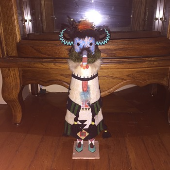 Kachina doll with horns and dress  - Native American